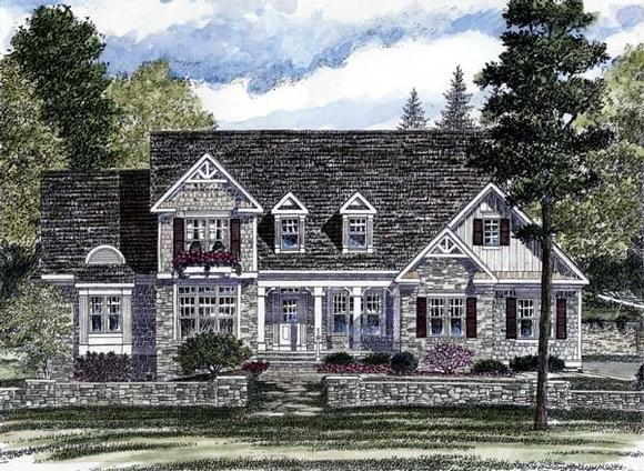 Country, European House Plan 94179 with 3 Beds, 3 Baths, 3 Car Garage Elevation