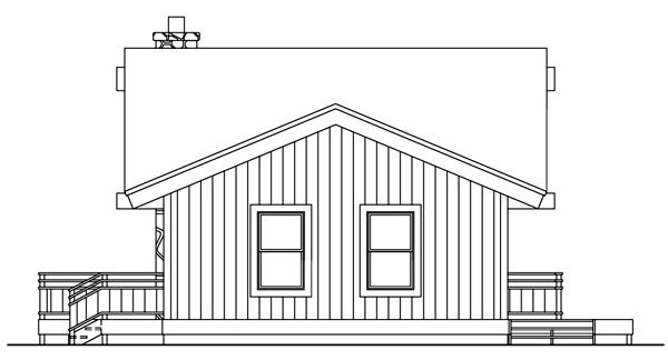 Cabin House Plan 94307 with 2 Beds, 2 Baths Picture 2