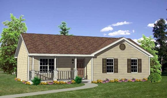 Ranch House Plan 94436 with 3 Beds, 2 Baths Elevation
