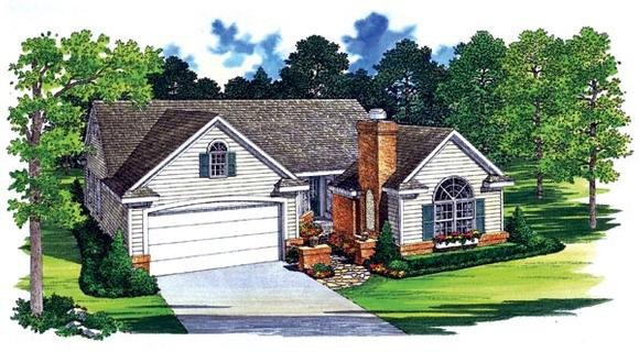 Traditional House Plan 95246 with 3 Beds, 3 Baths, 2 Car Garage Elevation