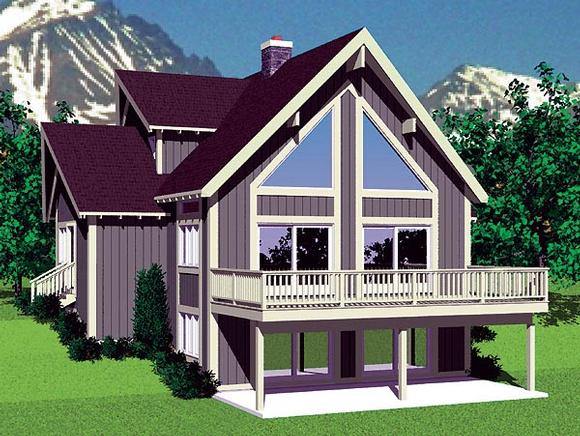 Contemporary House Plan 95269 with 4 Beds, 2 Baths Elevation