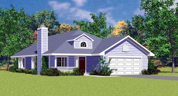 Traditional House Plan 95272 with 3 Beds, 2 Baths, 2 Car Garage Elevation