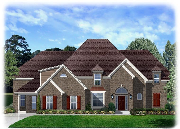 Traditional House Plan 95346 with 4 Beds, 3 Baths, 3 Car Garage Elevation