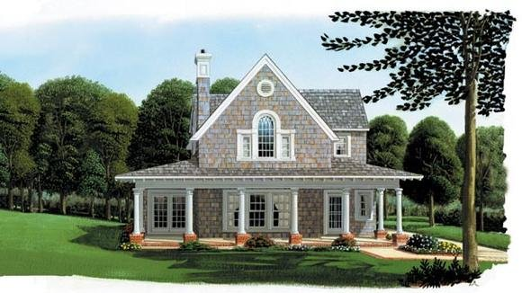 Cottage, Country, Craftsman, Farmhouse House Plan 95541 with 3 Beds, 2 Baths, 2 Car Garage Elevation
