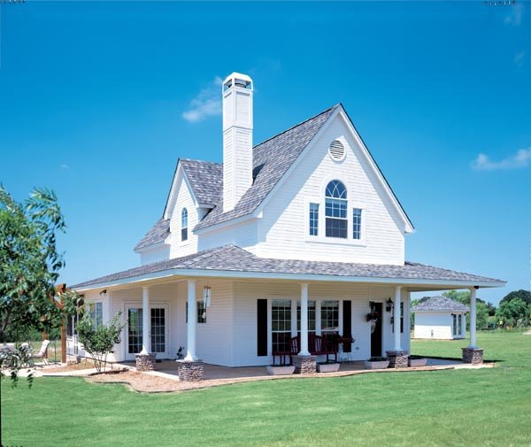 Cottage, Country, Craftsman, Farmhouse House Plan 95541 with 3 Beds, 2 Baths, 2 Car Garage Picture 1