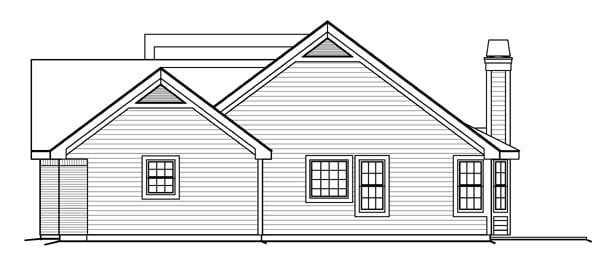 Cape Cod, Country, Ranch, Traditional House Plan 95812 with 4 Beds, 3 Baths, 3 Car Garage Picture 2
