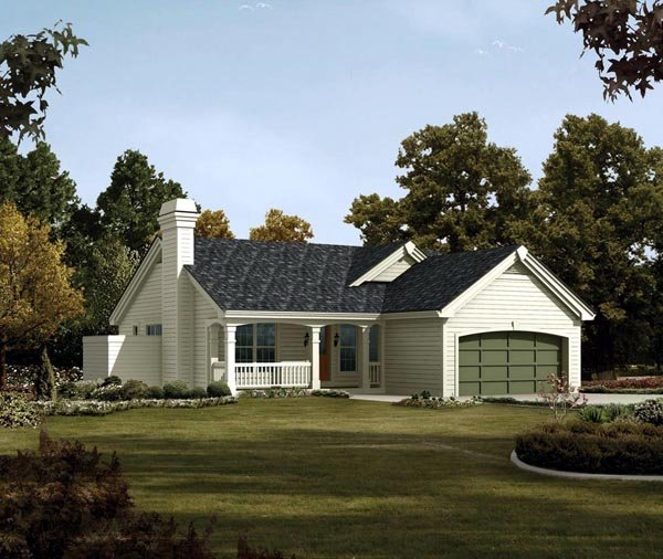Country, Ranch, Traditional House Plan 95816 with 4 Beds, 3 Baths, 2 Car Garage Elevation