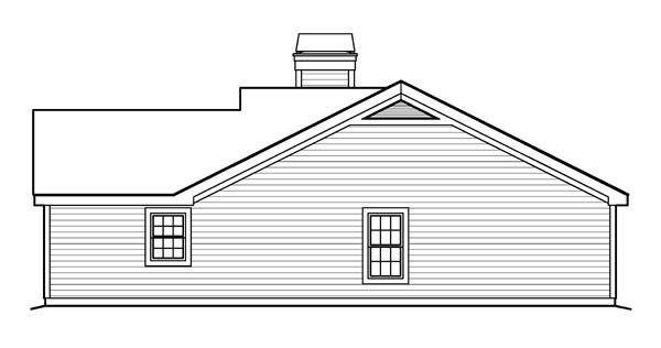 Country, Ranch, Traditional House Plan 95816 with 4 Beds, 3 Baths, 2 Car Garage Picture 2