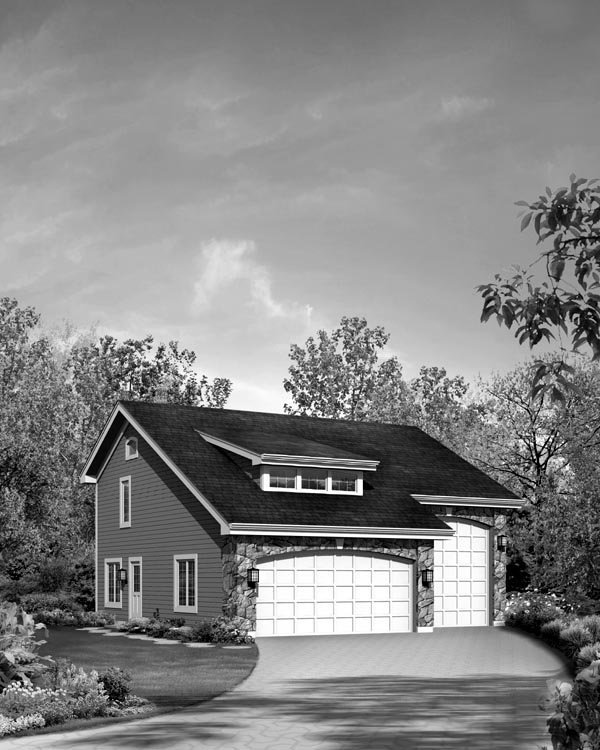 Cabin, Cottage, Country, Craftsman 3 Car Garage Apartment Plan 95827 with 1 Beds, 2 Baths, RV Storage Picture 3