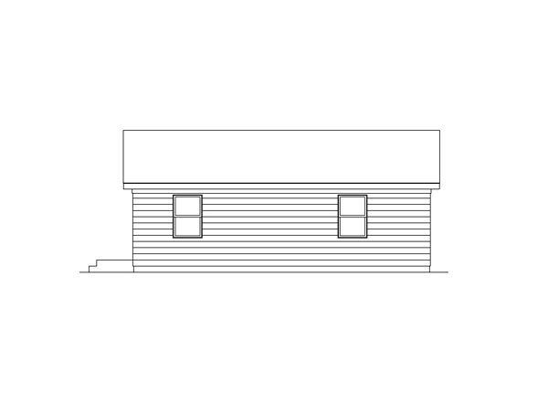 Ranch House Plan 95987 with 2 Beds, 1 Baths Rear Elevation