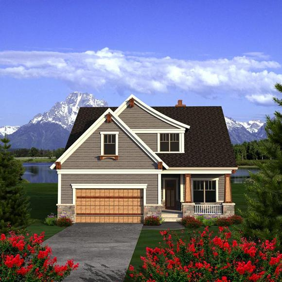 Traditional House Plan 96165 with 4 Beds, 3 Baths, 2 Car Garage Elevation