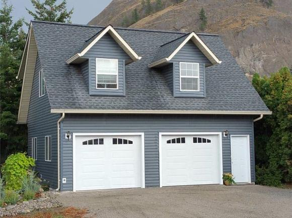 Cape Cod, Traditional 2 Car Garage Apartment Plan 96220 with 1 Beds, 1 Baths Elevation