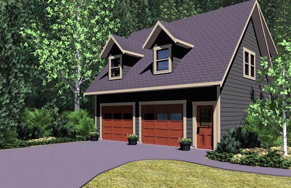Cape Cod, Traditional 2 Car Garage Apartment Plan 96220 with 1 Beds, 1 Baths Picture 1