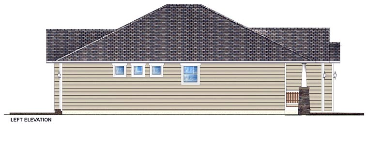 Craftsman, Traditional House Plan 96228 with 3 Beds, 2 Baths, 2 Car Garage Picture 1