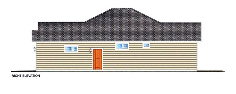 Craftsman, Traditional House Plan 96228 with 3 Beds, 2 Baths, 2 Car Garage Picture 2