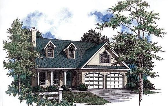 Country House Plan 96541 with 3 Beds, 3 Baths, 2 Car Garage Elevation