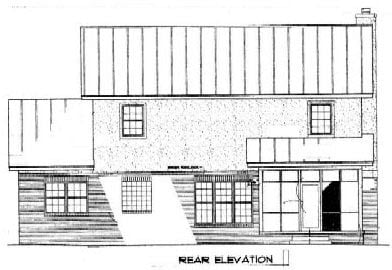 Country House Plan 96541 with 3 Beds, 3 Baths, 2 Car Garage Rear Elevation