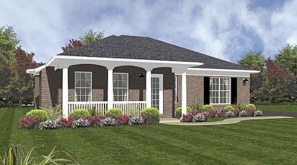 Traditional House Plan 96553 with 2 Beds, 2 Baths Elevation