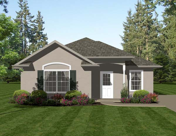 Traditional House Plan 96704 with 2 Beds, 2 Baths Elevation