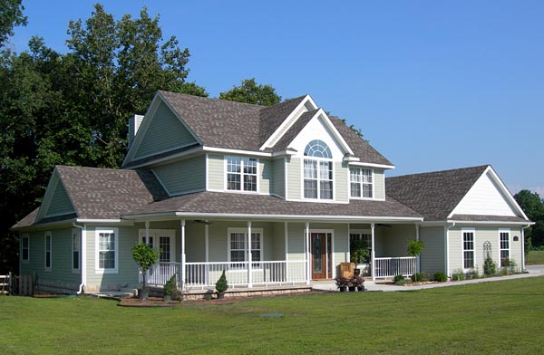 Country, Farmhouse House Plan 96833 with 4 Beds, 3 Baths, 3 Car Garage Picture 2
