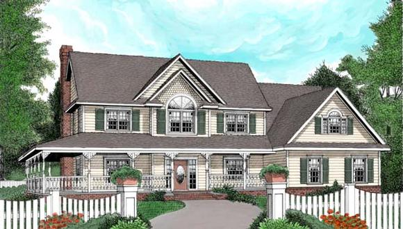Country, Farmhouse House Plan 96837 with 4 Beds, 3 Baths, 2 Car Garage Elevation
