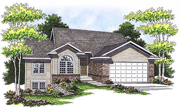 Traditional House Plan 97336 with 3 Beds, 3 Baths, 2 Car Garage Elevation