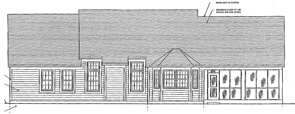 Bungalow, One-Story, Ranch House Plan 97760 with 3 Beds, 2 Baths, 2 Car Garage Rear Elevation