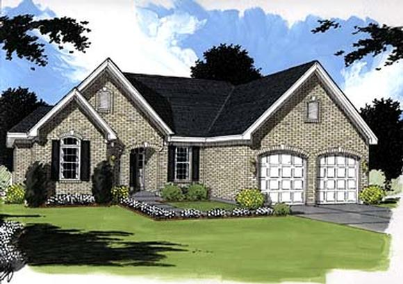 Traditional House Plan 97774 with 3 Beds, 4 Baths, 2 Car Garage Elevation