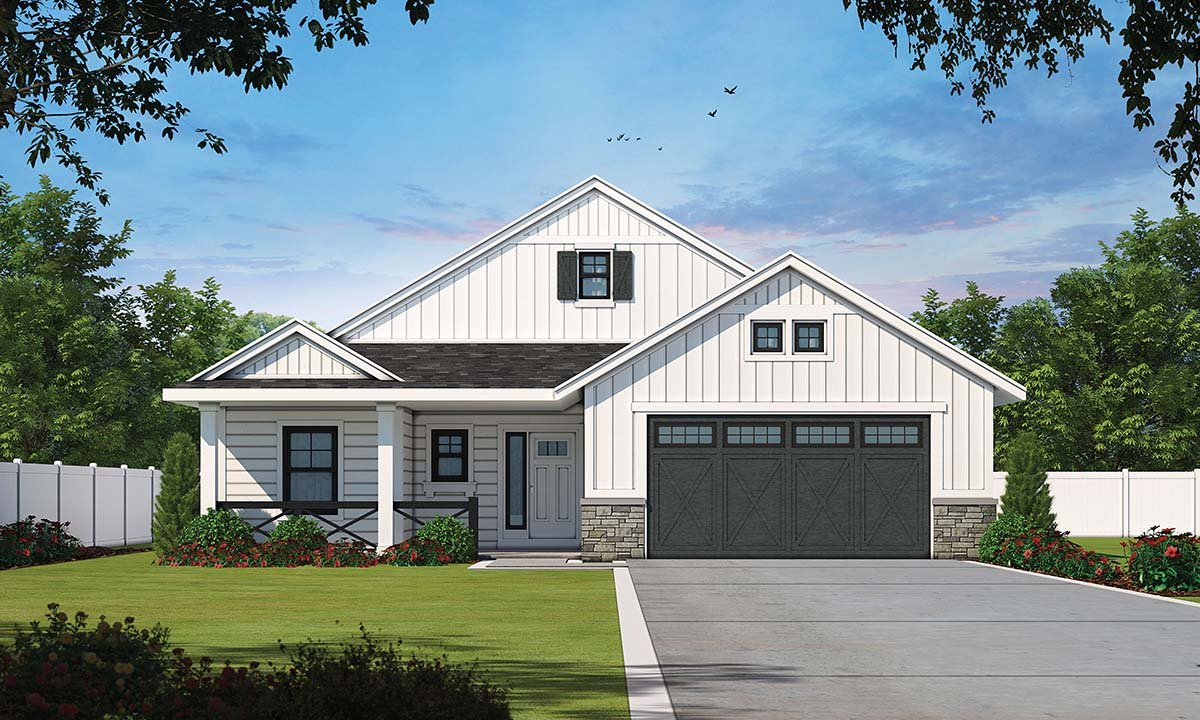 Country, Farmhouse, Traditional House Plan 97950 with 3 Beds, 2 Baths, 2 Car Garage Elevation