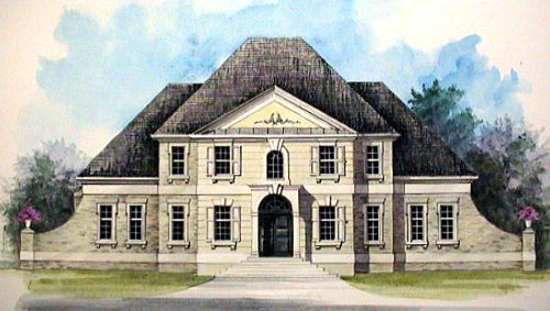 Colonial, European, Greek Revival House Plan 98220 with 4 Beds, 4 Baths Elevation