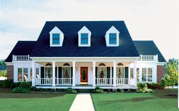 Cape Cod, Colonial, Country, Southern House Plan 98369 with 4 Beds, 4 Baths, 3 Car Garage Elevation