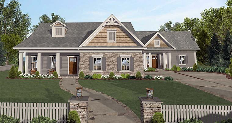 House Plan 98401 Craftsman Style With 1671 Sq Ft 4 Bed 2 Bath