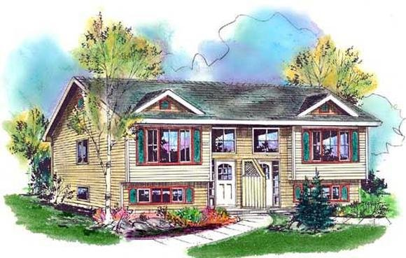 Narrow Lot, One-Story, Traditional Multi-Family Plan 98881 with 4 Beds, 2 Baths Elevation