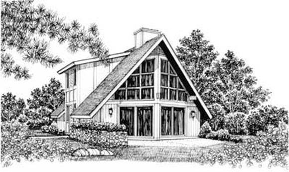 Contemporary House Plan 99032 with 3 Beds, 2 Baths Elevation