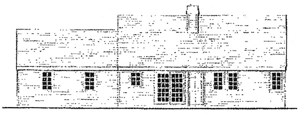 Country, Farmhouse, One-Story, Traditional House Plan 99686 with 3 Beds, 2 Baths, 2 Car Garage Rear Elevation
