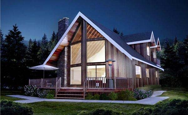 Contemporary House Plan 99914 with 2 Beds, 2 Baths Elevation