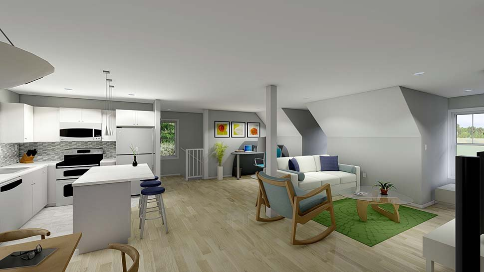 3 Car Garage Apartment Plan 99939 with 2 Beds, 2 Baths Picture 4