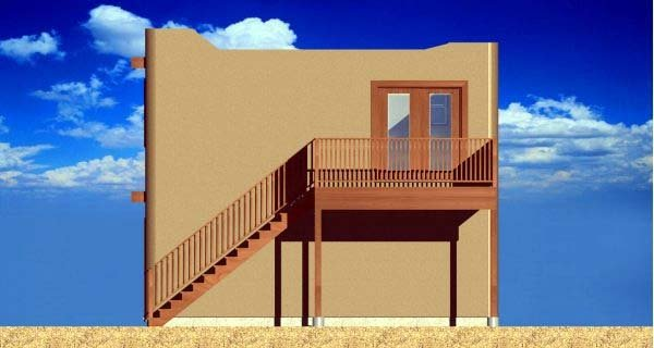 Southwest House Plan 99941 with 1 Beds, 1 Baths, 2 Car Garage Picture 2