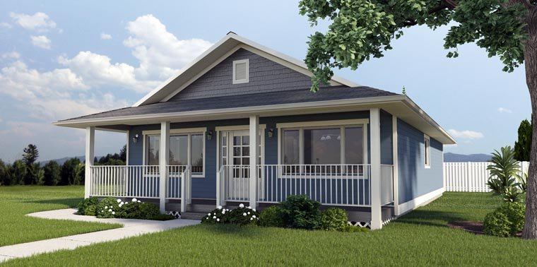 Country, Ranch House Plan 99960 with 3 Beds, 2 Baths Elevation