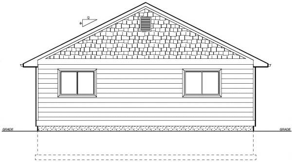 Country, Ranch House Plan 99960 with 3 Beds, 2 Baths Rear Elevation