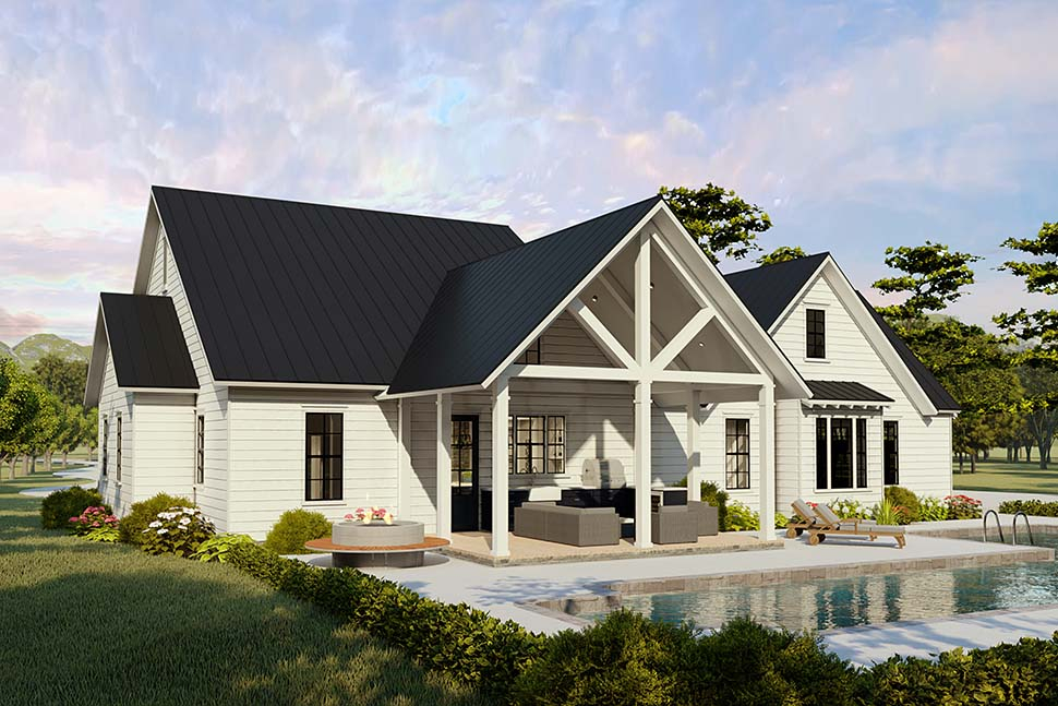 Cottage, Country, Craftsman, Farmhouse, Ranch, Southern, Traditional Plan with 2480 Sq. Ft., 4 Bedrooms, 2 Bathrooms, 2 Car Garage Picture 5