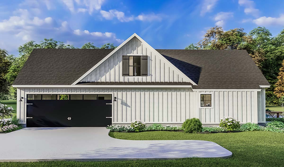 Country, Farmhouse, Ranch, Southern Plan with 1971 Sq. Ft., 4 Bedrooms, 2 Bathrooms, 2 Car Garage Picture 2