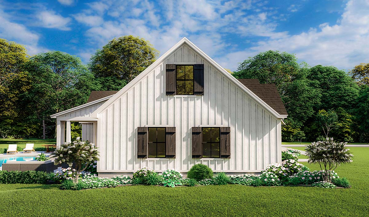 Country, Farmhouse, Ranch, Southern Plan with 1971 Sq. Ft., 4 Bedrooms, 2 Bathrooms, 2 Car Garage Picture 3