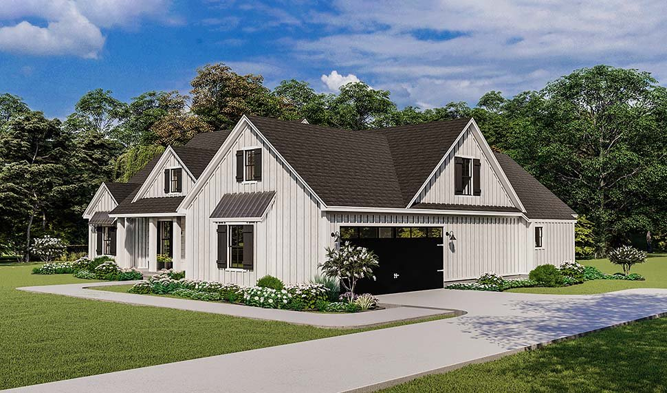 Country, Farmhouse, Ranch, Southern Plan with 1971 Sq. Ft., 4 Bedrooms, 2 Bathrooms, 2 Car Garage Picture 5