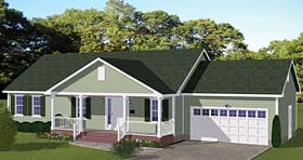 Plan Number 40673 - 1392 Square Feet