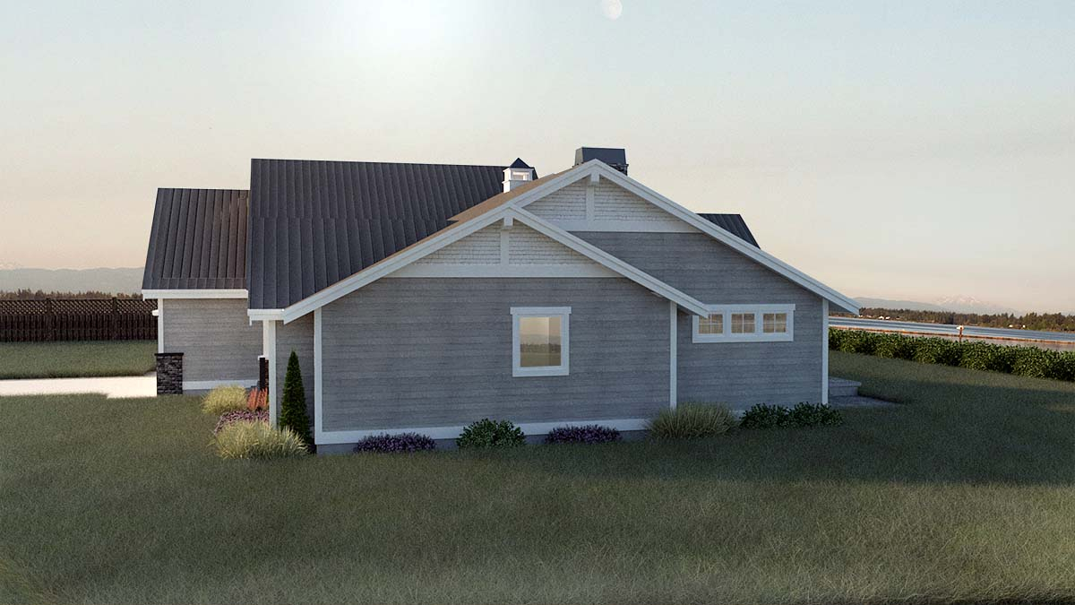 Country, Craftsman, Ranch, Traditional Plan with 2245 Sq. Ft., 3 Bedrooms, 2 Bathrooms, 2 Car Garage Picture 2