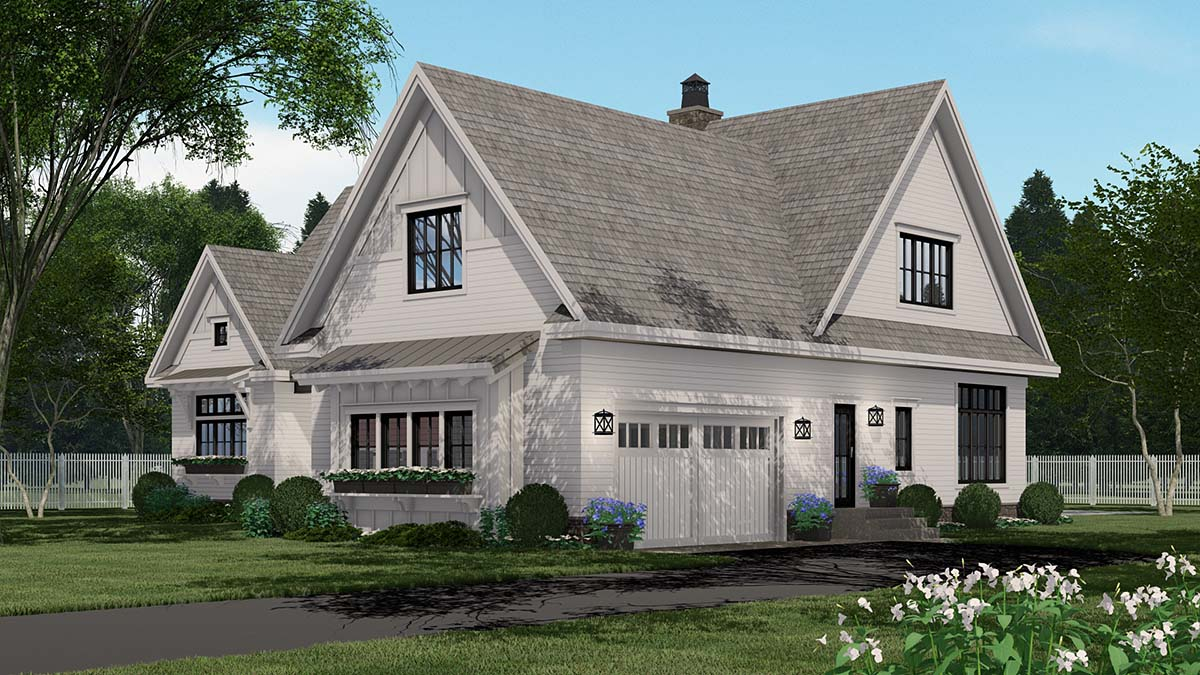 Country Plan with 3319 Sq. Ft., 4 Bedrooms, 5 Bathrooms, 2 Car Garage Picture 2