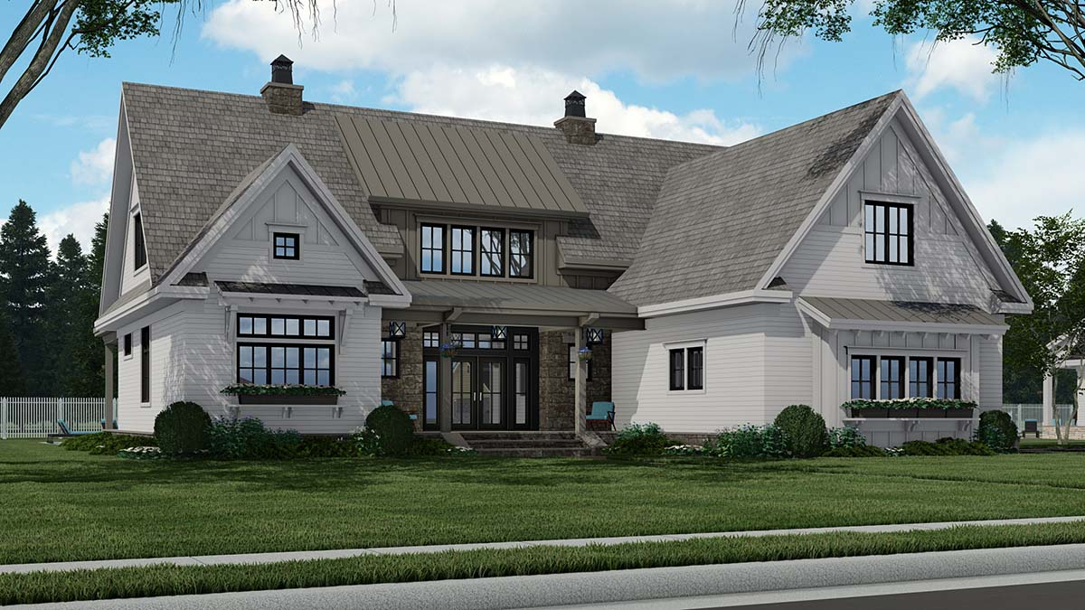 Country Plan with 3319 Sq. Ft., 4 Bedrooms, 5 Bathrooms, 2 Car Garage Picture 3
