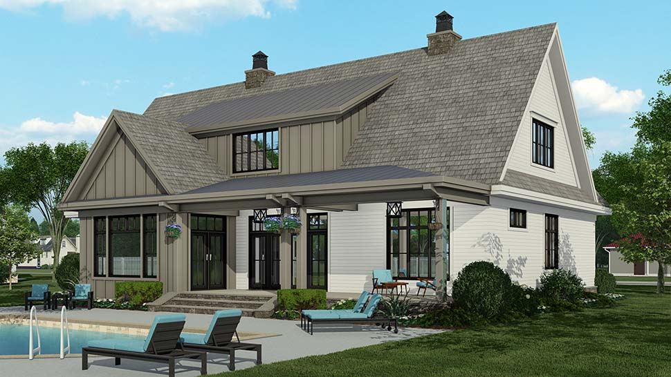 Country Plan with 3319 Sq. Ft., 4 Bedrooms, 5 Bathrooms, 2 Car Garage Picture 4