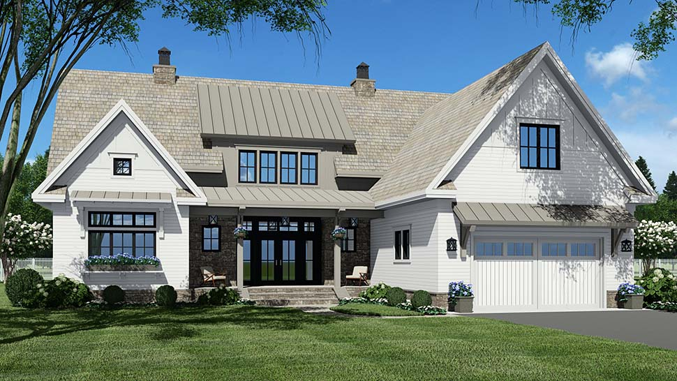 Country Plan with 3319 Sq. Ft., 4 Bedrooms, 5 Bathrooms, 2 Car Garage Picture 5
